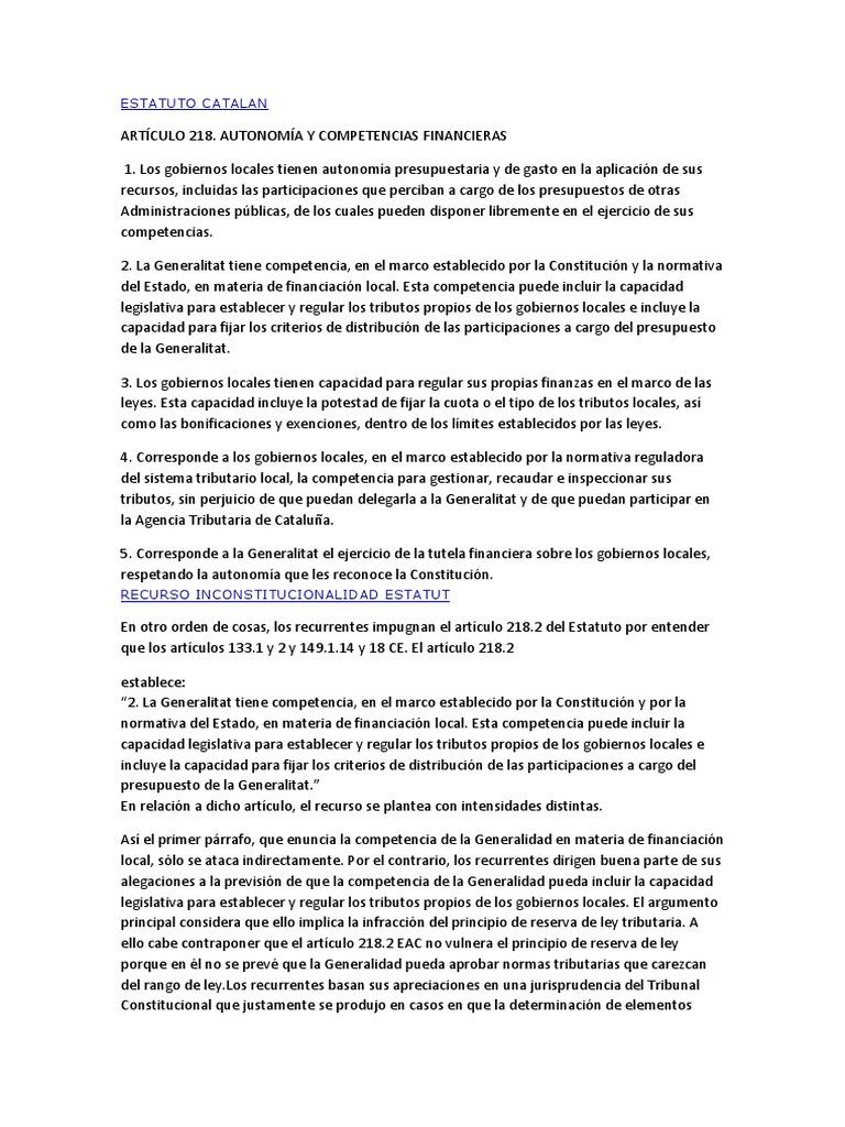 Estatuto Catalan 2