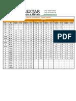 Tabela Peso Teorico Tubos Inox Schedule Lextar
