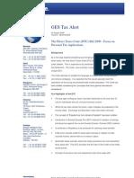 GES Tax Alert