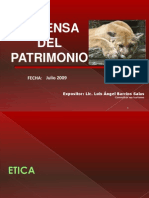 Defensa Del Patrimonio