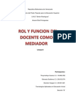 Rol y función del docente como mediador en el proceso de enseñanza y aprendizaje (1)