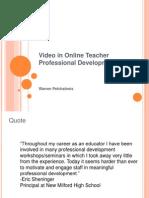 video in online teacher professional development2
