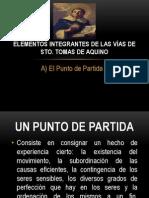Elementos Integrantes de las vías de Sto Tomas de Aquino