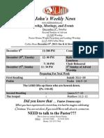 Weekly News December 8, 2013