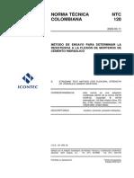 NTC-120 - Flexion de Morteros de Cemento Hidraulico