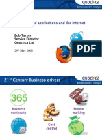 Web enabled applications and the internet