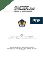 STUDI PENERAPAN PRINSIP-PRINSIP OECD 2004 DALAM PERATURAN BAPEPAM MENGENAI CORPORATE GOVERNANCE