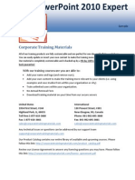 Training of PowerPoint 2010