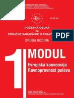 MODUL 1 Evropska konvencija o ravnopranosti polova