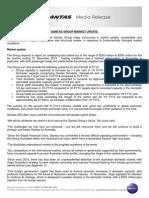 Qantas Group Market Update