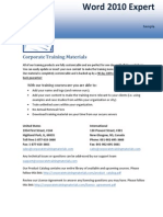 Training Materials Microsoft Word 2010