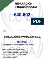 PREPARACIÓN CERTIFICACIÓN CCNA (IPV6)