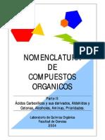 Nomenclatura de Compuestos Organicos. Parte II