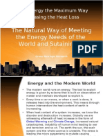 Natural way Meeting the Energy Needs of the World