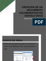 Creación de un Documento Colaborativo en Google Docs. Mariana Sol