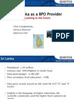 Sri Lanka as a BPO provider
