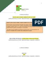 Modelo de relatório (CONTROLE TECNOLÓGICO DOS MATERIAIS)