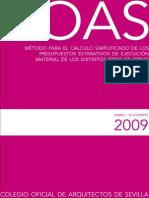 07Cálculo simplificado de los presupuestos estimativos de ejecución material año 2009[1]