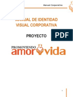Manual de Identidad Visual Corporativa - Promoviendo amor y vida