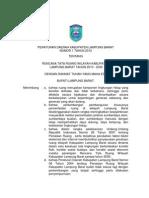 Peraturan Daerah Kabupaten Lampung Barat Nomor 1 Tahun 2012 Tentang Rencana Tata Ruang Wilayah Kabupaten Lampung Barat Tahun 2010 - 2030