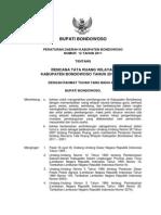 Peraturan Daerah Kabupaten Bondowoso Nomor 12 Tahun 2011 Tentang Rencana Tata Ruang Wilayah Kabupaten Bonodwoso Tahun 2011 - 2031