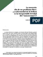 Cuadernos de Realidades Sociales, año 2003, Nº  61-62  - La anorexia. Radiografía de un problema flaco La enfermedad de la belleza (o la insoportable levedad del nuncacomer) Carlos Gamero Esparza
