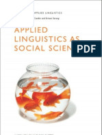 Applied Linguistics as Social Science (Advances in Applied Linguistics)