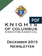Arkansas Knights of Columbus Newsletter December 2013