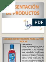 PRESENTACIÓN DE PRODUCTOS