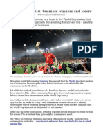 business winners and losers of world cup 2010