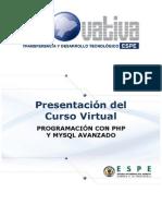 PROGRAMACIÓN CON PHP Y MYSQL AVANZADO