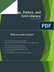 change politics and civil literacy