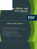 change politics and civil literacy
