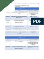 tentative course schedule eng 103
