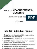 ME 220 Measurements & Sensors