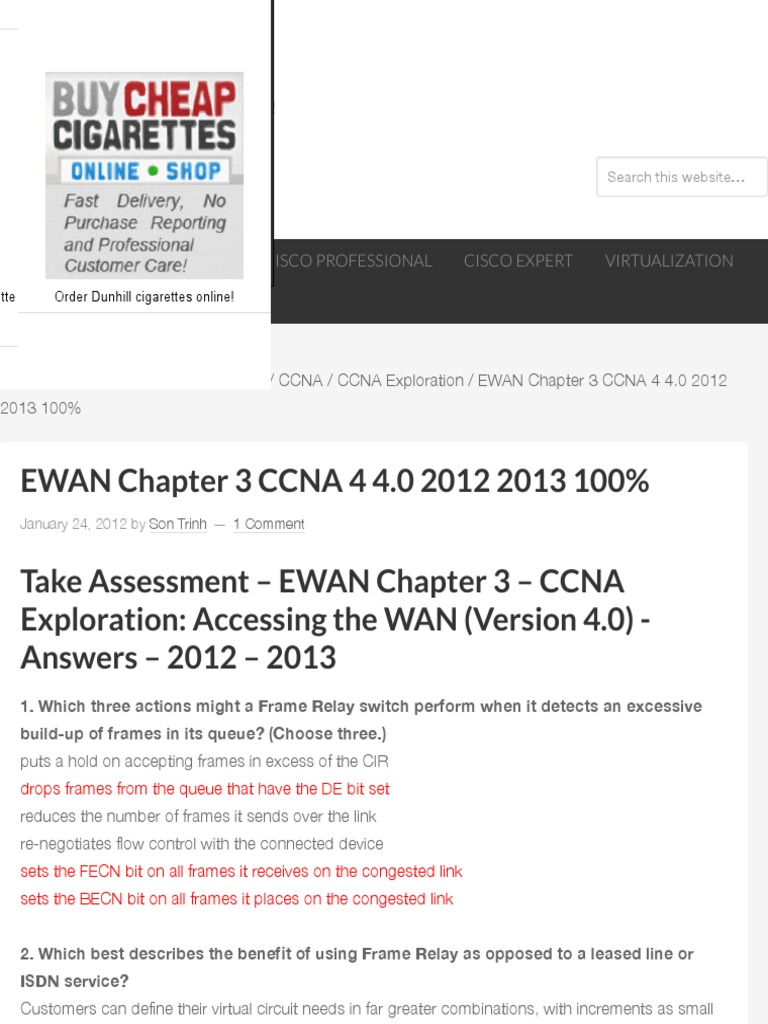 EWAN Chapter 3 CCNA 4 40 2012 2013 100 HeiseR Dev Zone