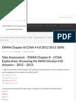 EWAN Chapter 8 CCNA 4 4.0 2012 2013 100% - HeiseR Dev Zone