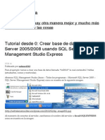 151474783 Tutorial Desde 0 Crear Base de Datos en SQL Server 2005 2008 Usando SQL Server Management Studio Express Web Telematica