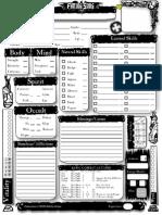Character Sheet 2nd Edition