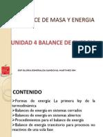 Unidad 4 -Balance de Energia