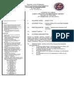 COEN 3134_Logic Circuits and Switching Theory Syllabus_CANSINO