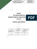 Manual Toma de Muestras Laboratorio Clinico Hospital Base Valdivia 2012