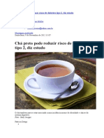 Chá preto pode reduzir risco de diabetes tipo 2_Estela
