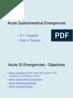 Acute Gastrointestinal Emergencies