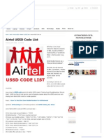 Airtel Codes
