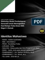 Efektivitas Model Pembelajaran 4201406012
