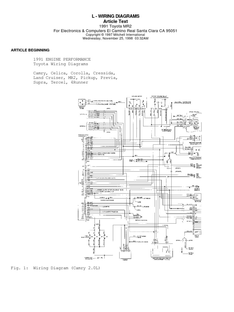 all model toyotas engine wiring diagrams vehicle technology land
