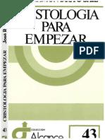 BUSTO SÁIZ, JOSÉ RAMÓN - CRISTOLOGIA PARA EMPEZAR (1991 Editorial SalTerrae)