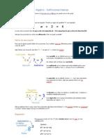 Álgebra - Definiciones