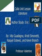 Calla Group Unit Plan Literature